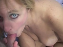 Busty MILF Lisa is giving a POV blowjob